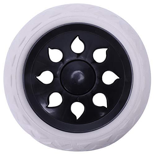 Lopbinte - Carrito de ruedas (2 unidades, 15,8 x 3,4 cm), color blanco y negro