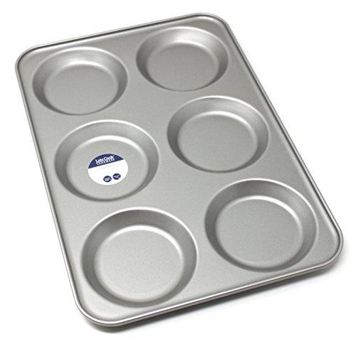 antiaderente Teglia per muffin Lets Cook Cookware 6 stampi taglia gigante in metallo