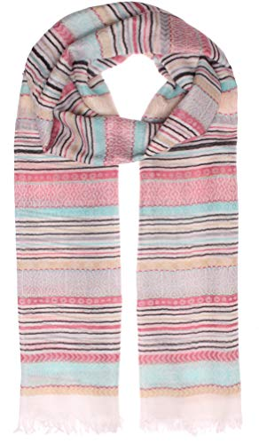 Highlight-Company modieus, lichte, knuffelige zomersjaal dikke kwaliteit Model: Strepen & patroonmix, overgangssjaal, websjaal, franjes (10129)