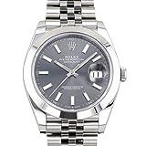 ロレックス ROLEX デイトジャスト 41 126300 ダークロジウム文字盤 新品 腕時計 メンズ (W200370) [並行輸入品]