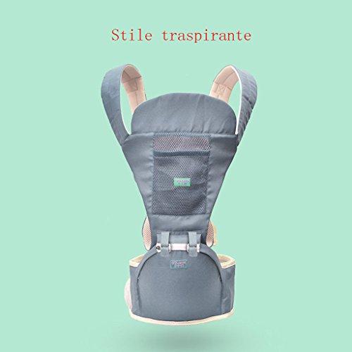 LLN Baby Carrier Ergonomics 4 In 1 Atmungsaktive Babytragegurte Baby Four Seasons Universalgurte Für Neugeborene Kleinkinder,B