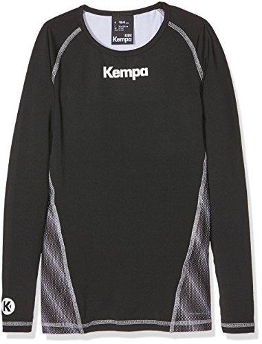 Kempa Kinder Bekleidung Teamsport Attitude Longsleeve, schwarz, 164