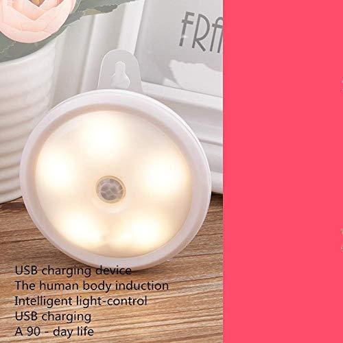 Menselijke lichtsensor LED nachtlampje USB opladen bed baby voering oogbescherming tafellamp baby [USB-laden] [lichtbesturing lichaamsgevoel] wit