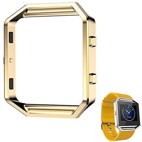 Spritech - Marco de repuesto para reloj Fitbit Blaze, de metal, color dorado