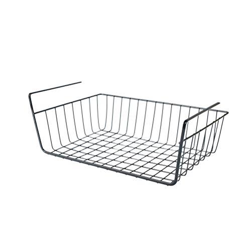TOPBATHY Cesta para la casa elegante cesta para colgar dormitorio cesta para colgar mesilla organizador cesta para estantes cocina dormitorio para baño - talla L (negro)