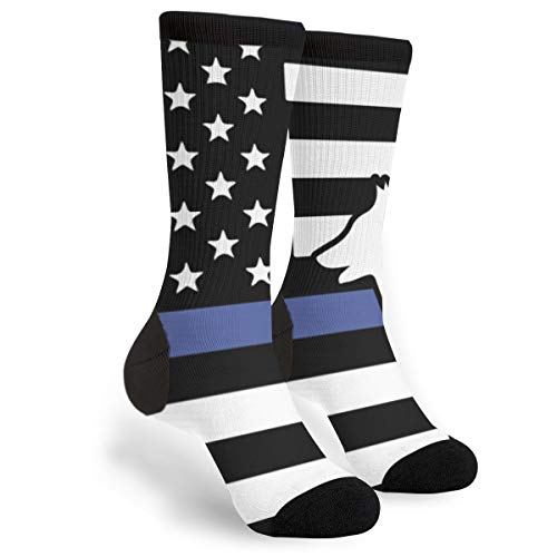 Thin Blue Line K9 Police Novelty Socks For Women & Men One Size - Gifts