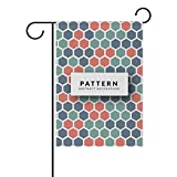 LINDATOP Bunte Waben-Gartenflagge 30,5 x 45,7 cm, doppelseitig, Yard Dekoration, Polyester Outdoor Flagge, Home Party, Polyester, Multi, 12x18(in)