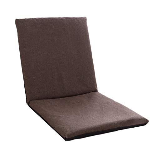 SFGH Divano pigro pieghevole singola poltrona for computer minimalista pieghevole moderno divano sedia (Color : Brown)