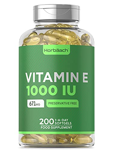 Vitamin E 1000IU   200 Softgel Capsules   High Strength Antixoidant  ...