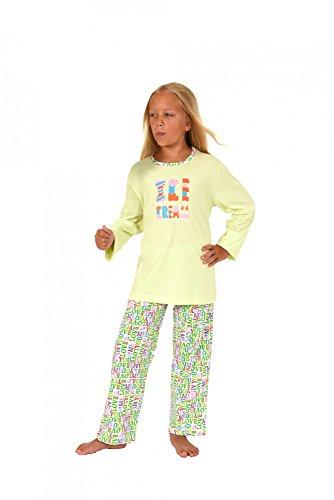 Normann Cooler Mädchen Kinder Pyjama Langarm in tollen Farben 171 401 90 842, Farbe:helltürkis;Größe:176