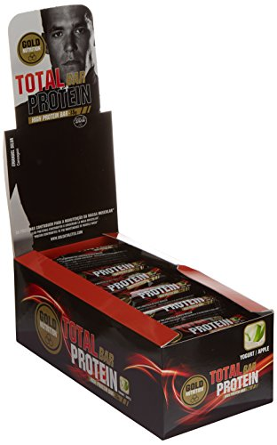 GoldNutrition Total Protein Bar Suplemento Deportivo, Sabor Yogurt y Manzana - Paquete de 24 x 46 gr - Total: 1104 gr