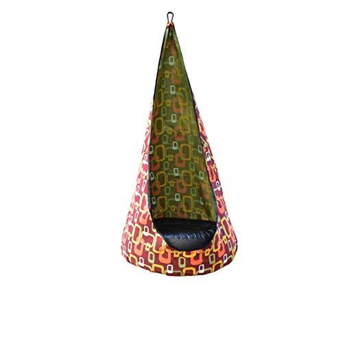 GHYTR Kinder Pod Swing Seat Kids Swing mit Kissen & Hängende Kits, Sicherheit langlebiger hängender Stuhl für Indoor & Outdoor