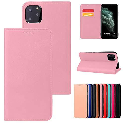 Funda para iPhone X Max con tapa magnética sin lengüeta, modelo de teléfono compatible con iPhone X Max, color rosa claro