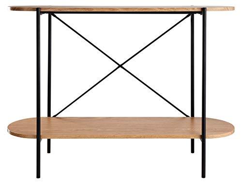 DAY - USEFUL EVERYDAY Konsolentisch, Beistelltisch fürs Wohnzimmer und den Flur Skandinavisches Design aus MDF Holz mit PVC Folie modernes Design 100x30x75cm