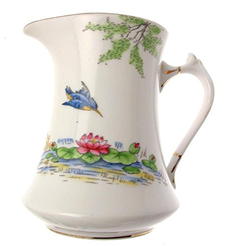 c1930s Salisbury China Milch Krug handbemalt Lily Muster 8497