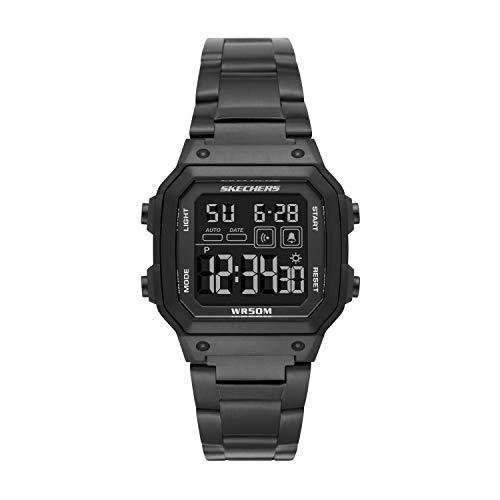 Skechers Men's Hosford Alloy Digital Watch, Color: Black (Model: SR5132)