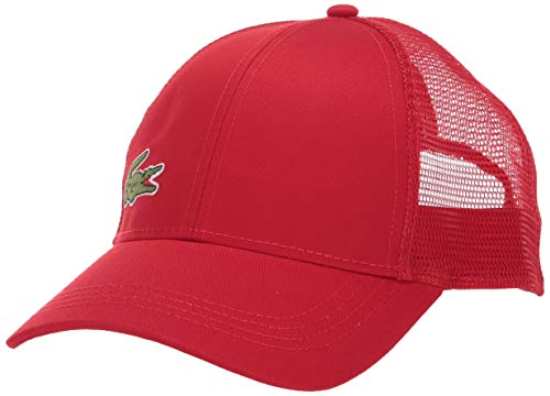 Lacoste Mens Sport Gabardine And Mesh Tennis Cap Cap, Red, One Size