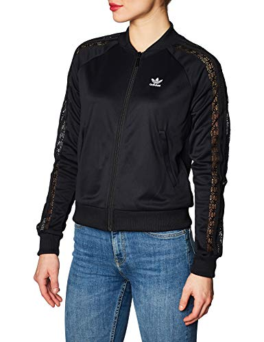 adidas Track Lace, Felpa Donna, Black, 42