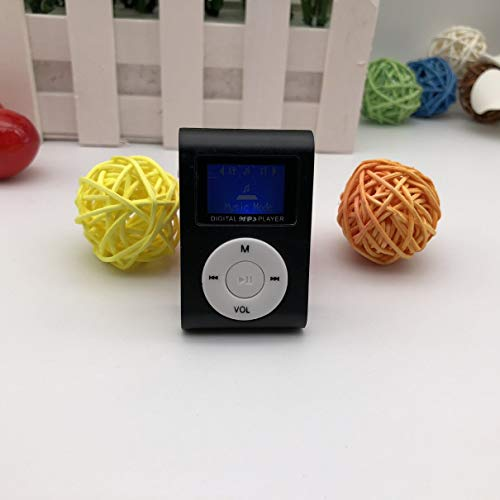 Kaczmarek Small Size Portable MP3 Player Mini LCD Screen MP3 Player Music Player Support 32GB TF Card Best Gift