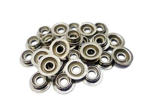 15mm Zilveren Heavy Duty drukknopen voor kleding en accessoires - Snap sluitingen voor het toevoegen van veilige sluiting aan jassen, jeans, tassen en andere projecten - Inclusief Stud Only