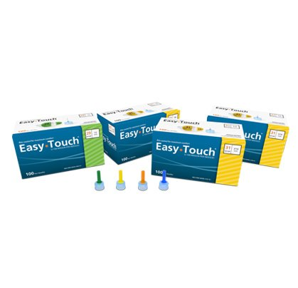 buy  [2 BOXES] EASY TOUCH® 32G TIP x 6 MM (1/4″) ... Blood Glucose Monitors