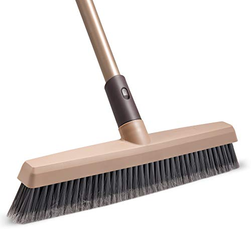 Eyliden Cepillo de escoba con mango largo – 122 cm, cerdas rígidas para ducha al aire libre, cepillo para limpieza de azulejos, baño, bañera, bañera y patio