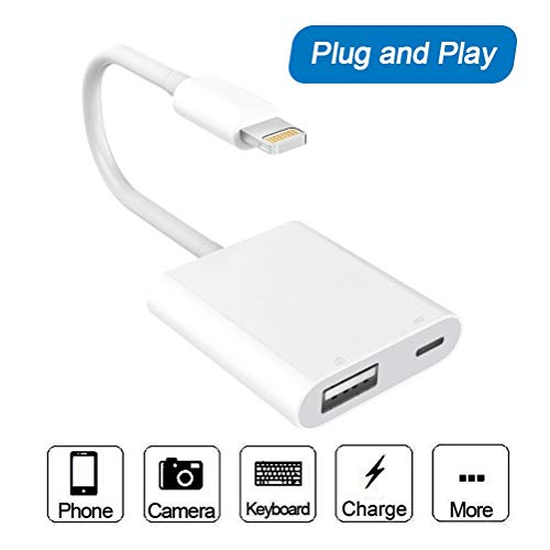 Cable adaptador USB para cámara, USB 3.0 hembra OTG con interfaz de alimentación USB, cable de carga de sincronización de datos para Phone, Pad