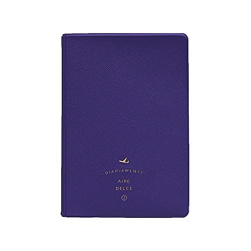 2nul Aire Passport Cover パスポートケース パスポートカーバ パスポート 旅行用品 トラベル用品 旅券 かわいい シンプル 面白い 薄い 出張 旅先 海外旅行 連休 子供 (バイオレット)