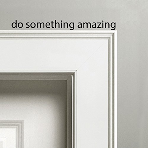"""Imprinted Designs Do Something Amazing - Vinyl Wall Decal Sticker Art 1.5"""" x 18"""" - Inspirational Words - Motivational Quotes Home Decor Wall Decals"""
