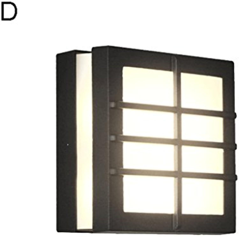 QZz Kreative LED Wasserdichte Wandleuchte Outdoor-Hof Wandleuchten Auenwandleuchten (gre   D)