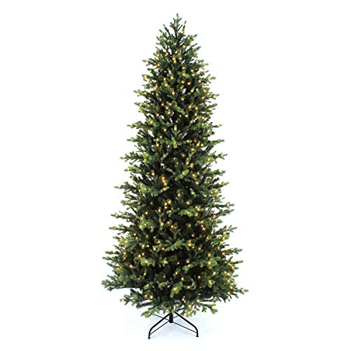 Light Scene Tree Co. 7.5 Ft. Whistler Fir Slim Tree with 800 Multi-White, Color-Changing Microdot LEDs