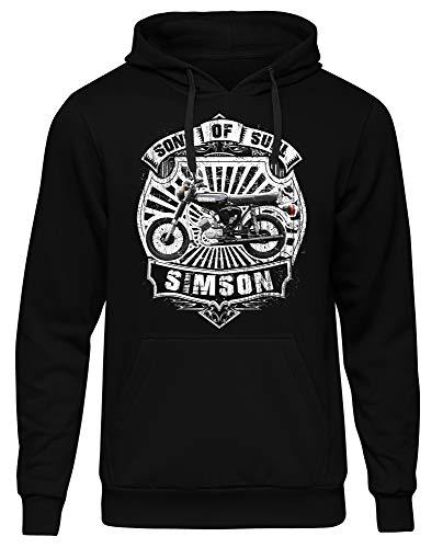 Uglyshirt89 Sons of Suhl Männer Herren Kapuzenpullover | Simson Moped DDR Ossi Osten Schwalbe Trabant Kult | M2 (S)