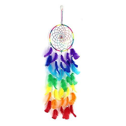 Tellpet Dream Catchers for Kids Gift, Rainbow Dream Catcher Wall Hanging Decor, Boho Dreamcatcher