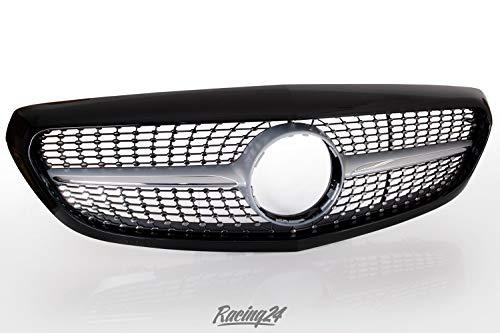 racing24de Diamantgrill W205GRL schwarz glänzender Frontgrill Kühlergrill Grill Exclusive