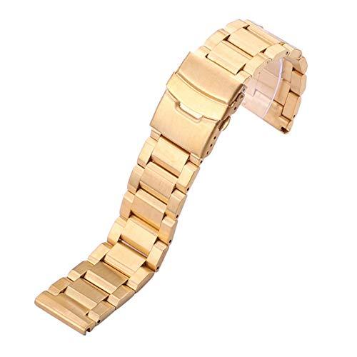 WNFYES Pulsera Correas de Reloj de Acero Inoxidable de 24 mm 18 mm 20 mm 22 mm Hombres Correa de la Venda de Metal Cepillado Reloj Sustituir Accesorios Relojes Correas