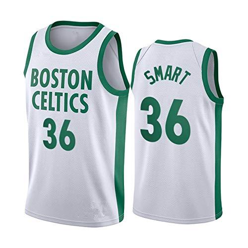 Camisetas de Baloncesto para Hombre de Boston, 0# Tatum Vest 36# Smart Shirt 11# Pritchard Fan Sweatshirt L white36