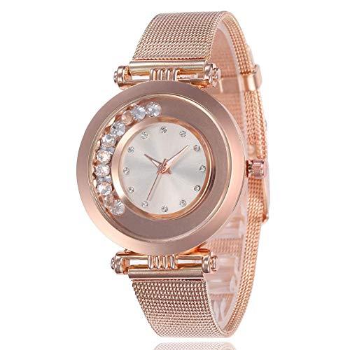 Exquisito, hermoso, decente, novedoso y único. Relojes de mujer Rimsand Rhinestone Malla Correa Correa Strap Ladies Ultra-Thine Reloj Ladies Moda Moda Miradas Niñas Casual Relojes decorativos