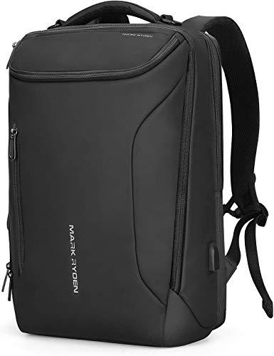 MARK RYDEN Mochila Impermeable para Hombres portátiles. Mochila Moderna para Viajes universitarios al Aire Libre con Puerto USB y portátil de 17.3 Pulgadas