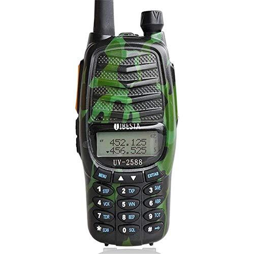 Interphone walkie-Talkie, al Aire Libre 50 kilometros UV de Mano de Doble segmento Intercom Propiedad a Prueba de Agua walkie Ingeniería (1 par),Verde