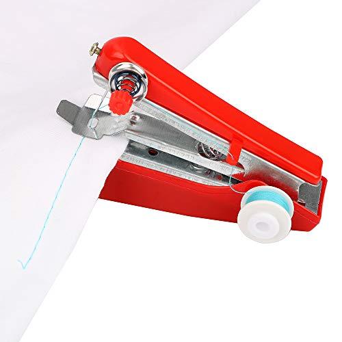 NNMNBV Draagbare mini-naaimachine, handmatig en creatief thuis, klein borduurwerk, eenvoudig naaigereedschap