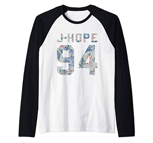 Official BTS J-Hope 94 Kpop Bangtan Boys Merch BTS12FLR Raglan Baseball Tee