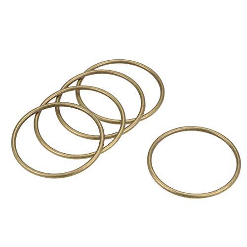 uxcell O-Ring Schnalle Metall O-Ring für Hardware Taschen Gürtel Basteln DIY 2-Inch(50mm) Bronze Tone