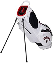 Callaway Golf 2021 Hyperlite Zero Stand Bag, Double Strap, White/Black/Red