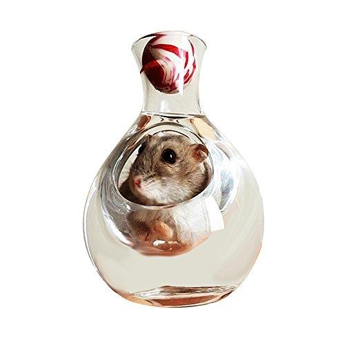 Amakunft Hamster-Haus, Hamster, Sommer Eis-Kühlbox-Hamster Spielzeug für Haustiere mit Kühlung, geeignet für Hamster, Syrische Hamster mit drei Draht Hamster