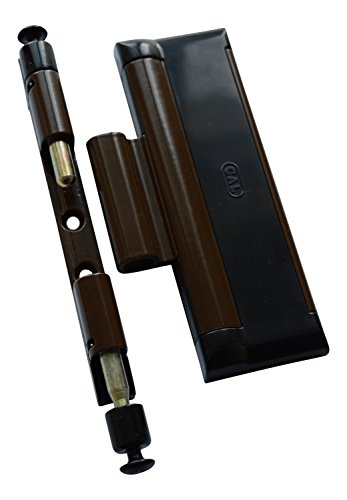 Cal Doublex XL - Fenstersicherung gegen Einbruch, auch für Balkontür, Terassentür Einbruchschutz, braun schwarz