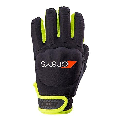 Touch Pro Hockey-Handschuh, rechte Hand, Schwarz/Gelb, Größe XL