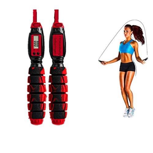 ACRISHAGN Springseil Fitness Springseil mit Zähler Einstellbares Seilspringen und Timer für Kalorien Jump Rope mit Kugellagern Rutschfesten Handgriffe Springseil Kinder Damen Erwachsener Jump Rope