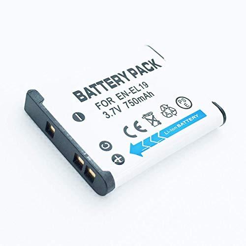 F-MINGNIAN-SPRING Cámaras Recargables Reemplazo rápido del Kit de batería Compatible con Nikon Coolpix A100, A300, S32, S33, S100 Accesorios para cámaras Digitales