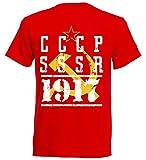 aprom CCCP - Camiseta de fútbol, diseño de la Unión Soviética R 6 rojo XL