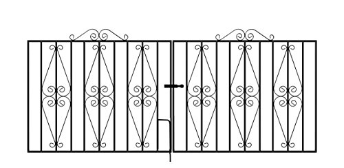 STIRLING Driveway Gates 2438mm (8ft) GAP x 914mm High Galvanised Wrought Iron Metal gate ST13ZP
